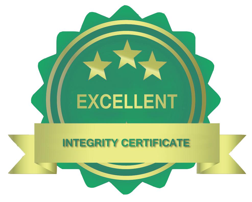 excelente certificado desempenho