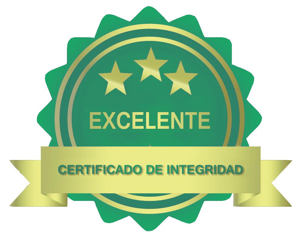 excelente certificado de integridade